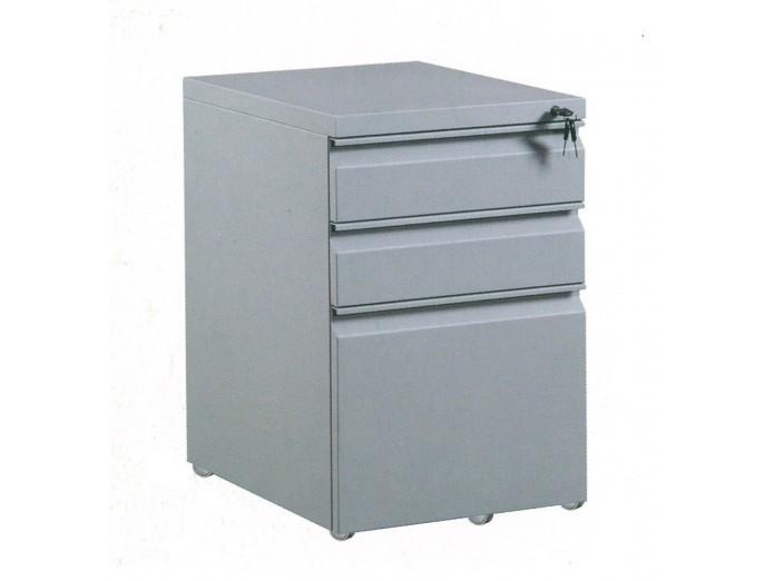 鋼櫃系列 - 3D-1206 三斗推櫃桶